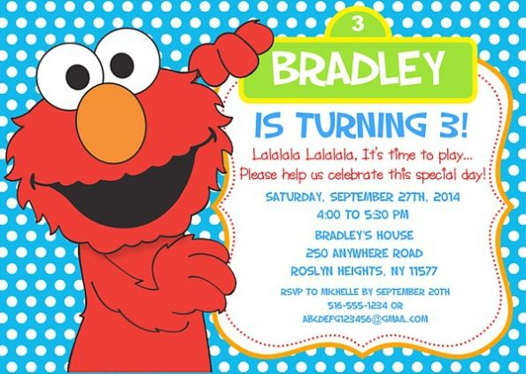 Elmo Birthday Party Invitations with different invitation wording to inspire you 545 Check more at http://thewhipper.com/elmo-birthday-party-invitations-which-perfect-for-you/
