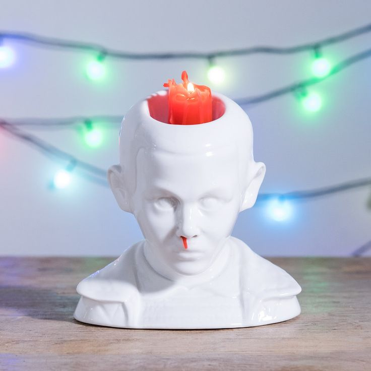 After a series of harrowing experiments in a shady forest laboratory... we finally managed to make this ornament bleed from the nose. The Eleven Bleeding Nose