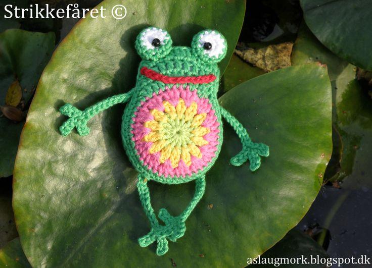 Strikkefåret: Hæklet lille fræk frø