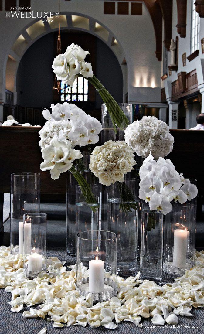 Ceremony floral vignette