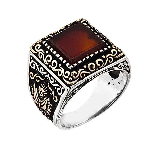 #stylish Silver Ottoman Man Ring With Sardonyx Stone  #jewelry #ottoman