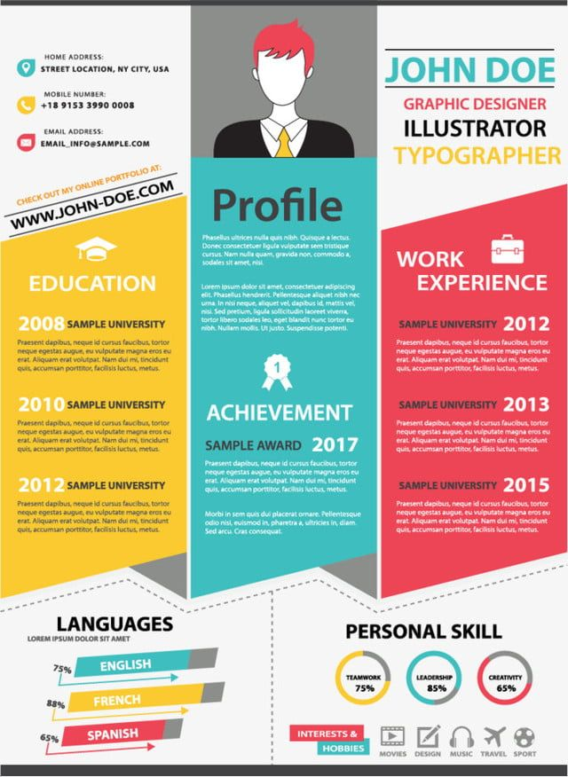 Three Color Origami Resume Templates Color Resume Resume Template Png And Vector With Transparent Background For Free Download Cv Template Word Resume Template Resume Templates