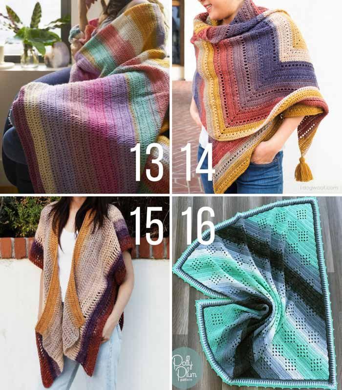 15 Lion Brand Mandala Yarn Free Crochet Patterns Crochet Poncho