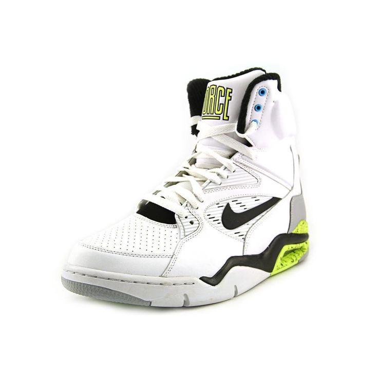 Nike Men's Air Command Force White/Black/Wolf Grey/Volt Basketball Shoe 11  Men US: The Nike Air Command Force is an iconic hoops shoe featuring a  working ...