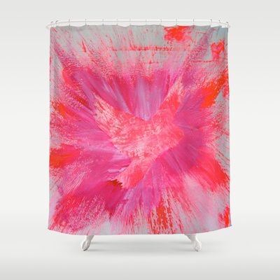 THEPEACEBOMB PINK BLOW Shower Curtain by ThePeaceBombers - $68.00Part of the world know PeaceBomb Team - Join it now! Acrylics and ink on recycle quality paper Handwritten text - Japanese book paper Created by the Founder of The PeaceBomb Team. Join it now!  #decor #home #shower #bathroom #curtains #homes #peace #art #thepeacebomb #pink #blow