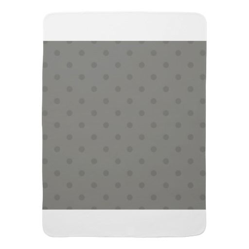 Designers baby blanket : grey with Dots