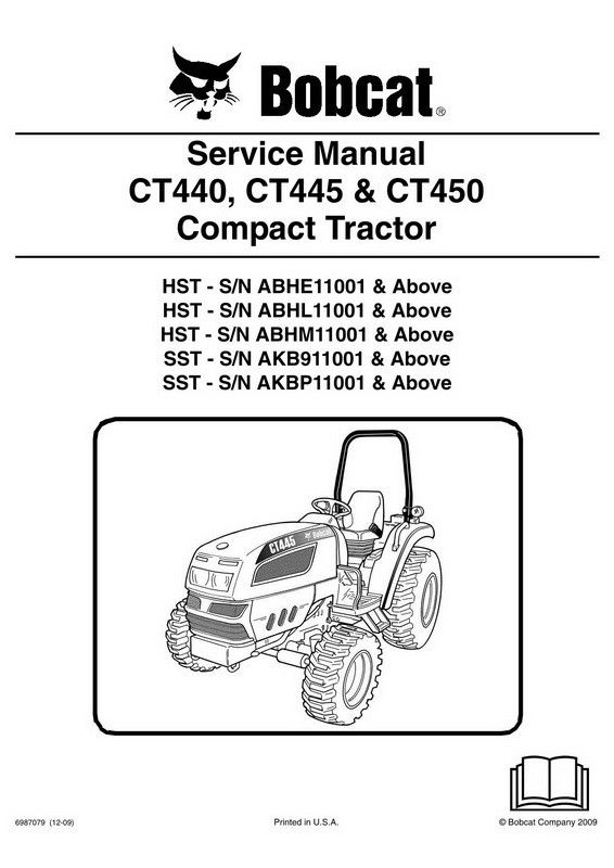 Bobcat CT440, CT445 & CT450 Compact Tractor Service Manual