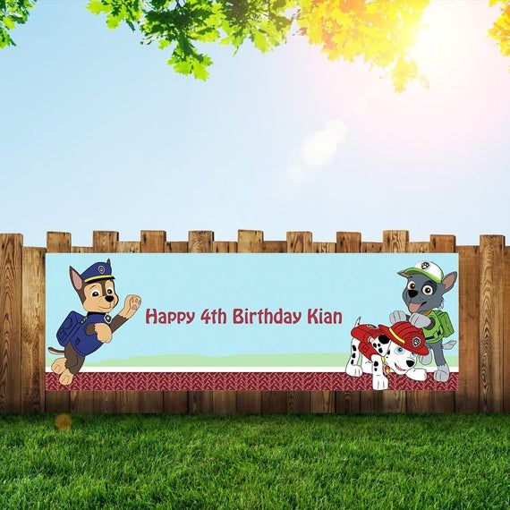 4 Foot long Large Children/'s Personalized Birthday Party Banner with photo
