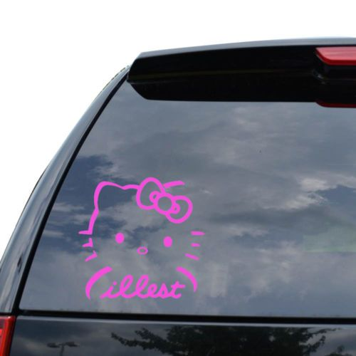 Best Car Decals Images On Pinterest Hello Kitty Car Car - Hello kitty custom vinyl decals for car