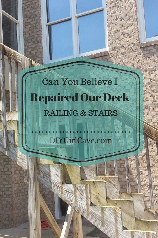Repair Your Deck Railing and Stairs - Welcome to the south where from May to…