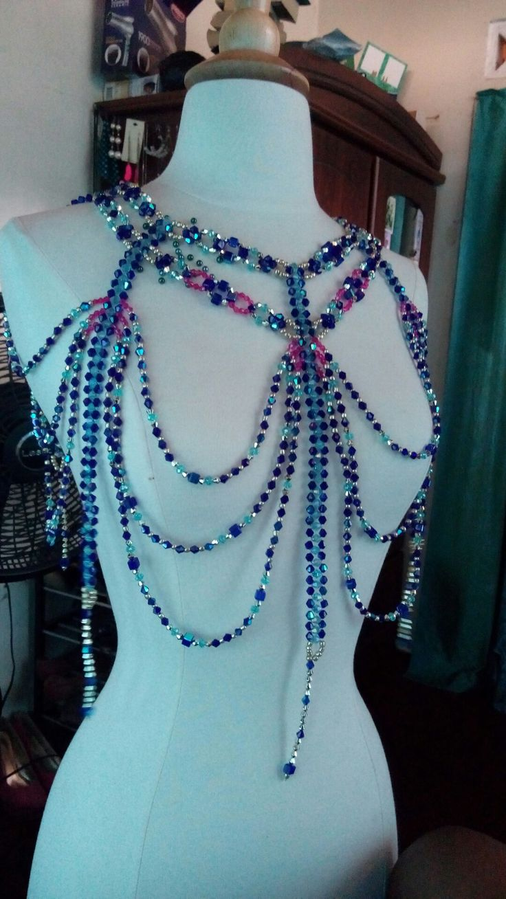Elaborate beaded necklace