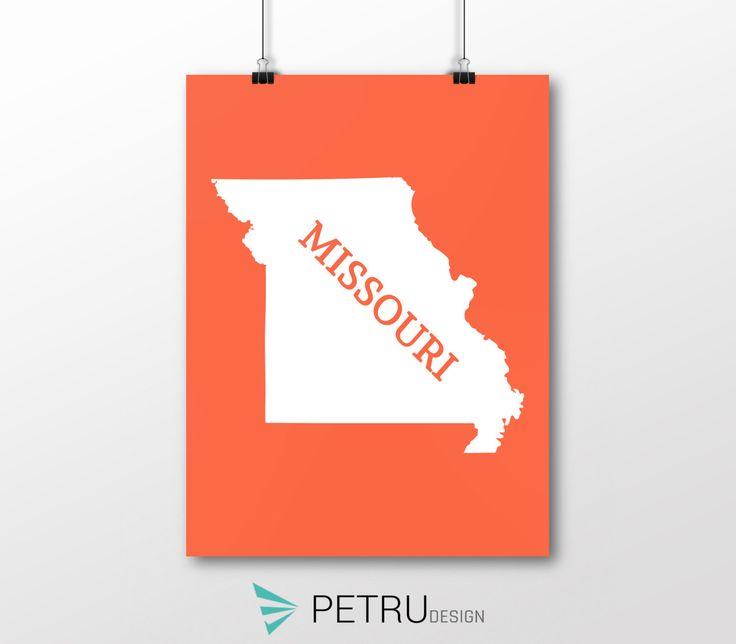 Missouri print - Missouri art - Missouri poster - Missouri wall art - Missouri printable poster - Missouri map - Missouri Sunset art by Exit8Creatives on Etsy
