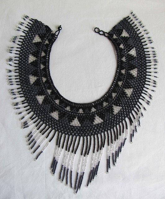 Hand Beaded Cleopatra Collared Necklace