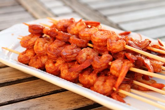 Jamaican Jerk Spicy Grilled Shrimp Skewers by Unsophisticook - Made ...