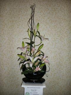 Creative lily floral design flower arrangement Garden