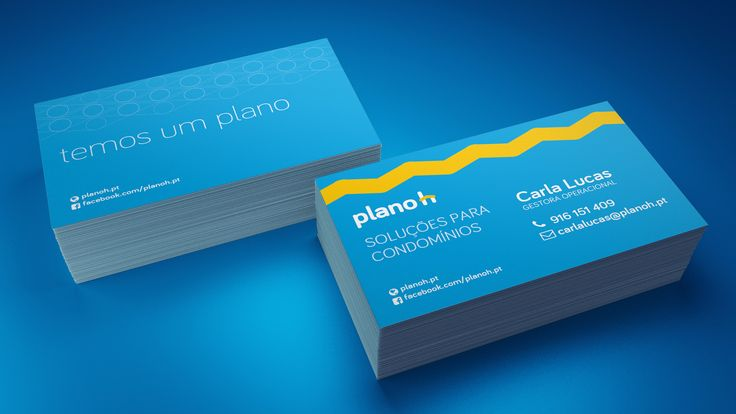 Business cards mockup for Planoh