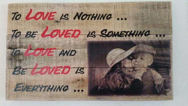Order your customised pallet sign at www.livelaughlove.co.za Pallet signs and wall art. Picture transfer onto wood.