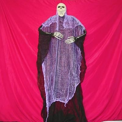 "84"" HANGING POSABLE SKELETON REAPER~Halloween Yard Decoration~NEW"