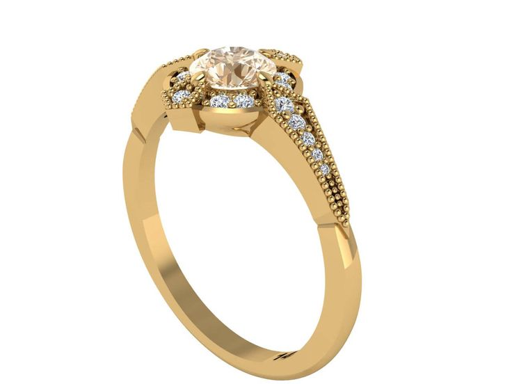 Natural Diamond ring, Antique style rings, Custom made by Irina by BridalRings on Etsy https://www.etsy.com/listing/522137973/natural-diamond-ring-antique-style-rings
