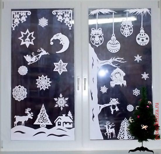 okno-novogodnie-ukrashenija