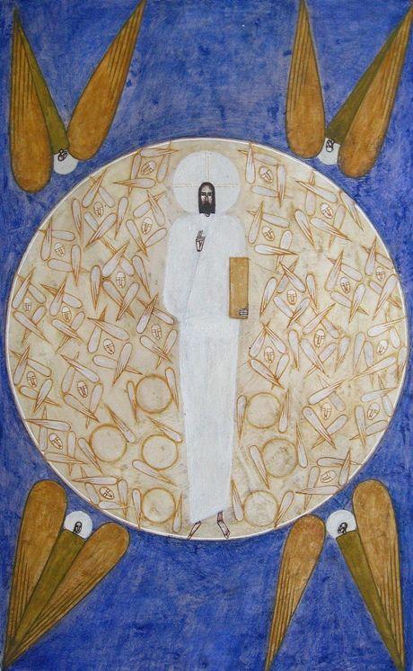 Contemporary icon of Christ by Natalya Rusetska