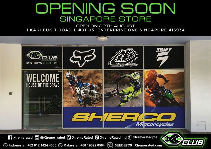 Opening soon Singapore Store  Open on 22th August 1 Kaki Bukit Road 1, #01-05 Enterprise One Singapore 415934  #xtremerated #xclub #singapore