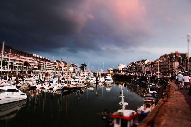 Le Pouliguen le port - seaport harbor France Brittany sunset thunderstorm-8793 by Absolutekings, via Flickr