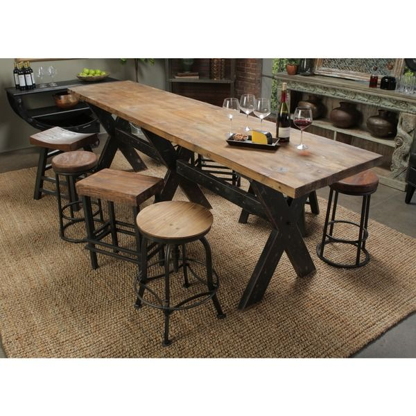 isabella gathering table overstockcom shopping the best deals on dining tables - Extra Long Dining Room Table Sets