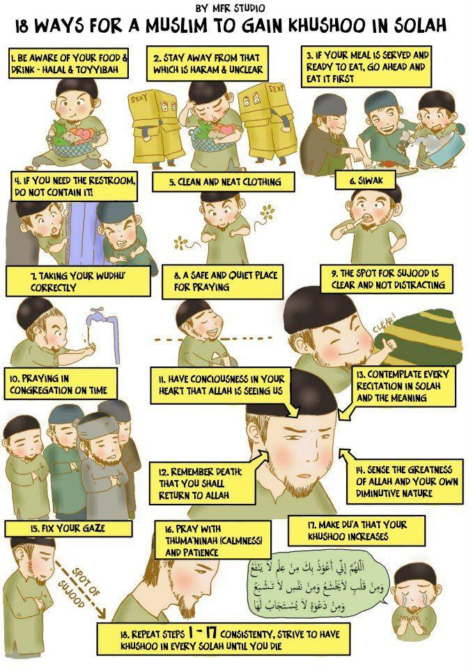 18 Ways for a Muslim to Gain Khushoo in Salah