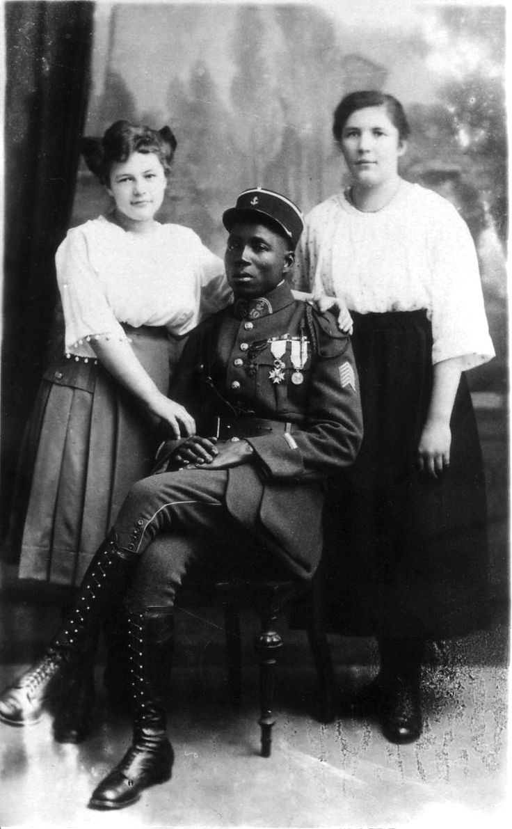 "#Hitler wrote about the Black Shame in Mein Kampf, decrying the ""negrification"" of Europe. His government would later sterilize 500 or so mixed-race children born of African servicemen and German women (the so-called ""Rhineland Bastards""), #wartime Colonial soldier with German women, 1919. In the period following World War I, French colonial troops were used as part of the Allied occupation of the German Rhineland, in accordance with the Treaty of Versailles. Germ"