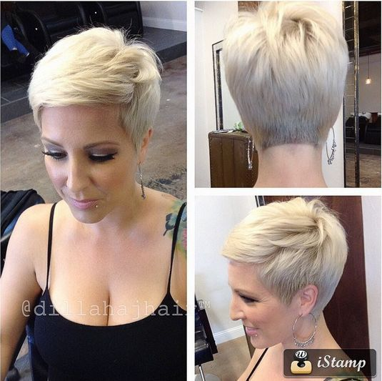 Blonde Pixie Haircut with Bangs: Women Short Hairstyles