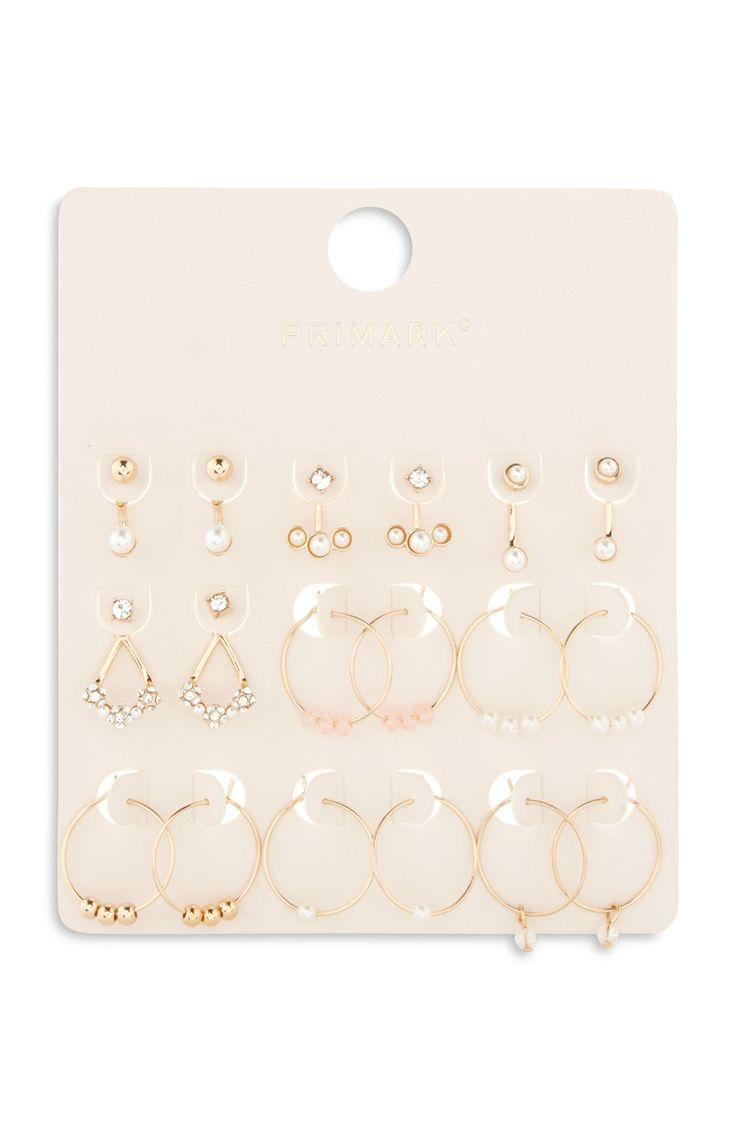 Gold Multi Pack Earring Set