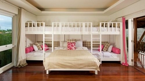 I really wish I owned a house and could build these. With 3 girls in one room this would be perfect!