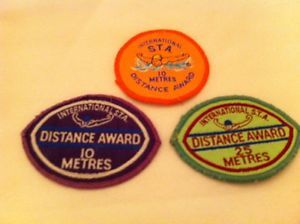 Swimming distance badges