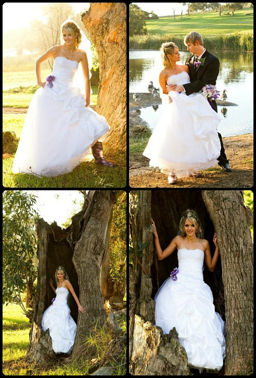 Taffeta & tulle ... with a touch of nature.  www.weddingcouture.co.za
