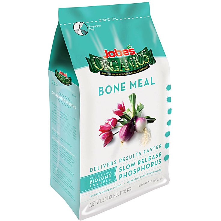 Jobes 09326 3-pound Organics Bone Meal 2-14-0 (Plant Food & Fertilizer), Multi (Plastic), Gardening
