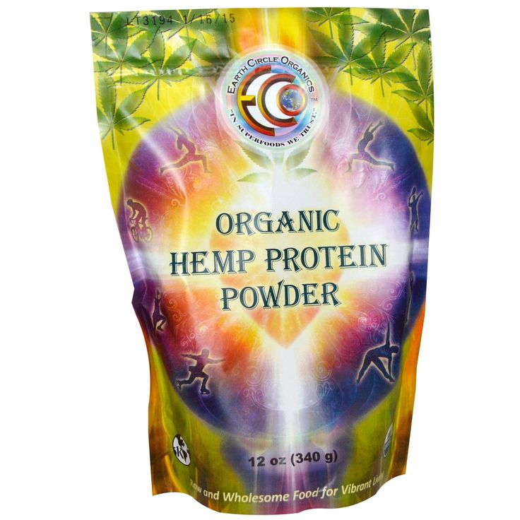 Earth Circle Organics Hemp Protein Powder - Organic - 12 Oz