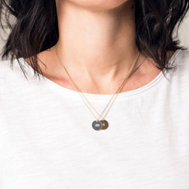 Jewellery: silver | goldplated with personaly engraving made by twentysix.cz