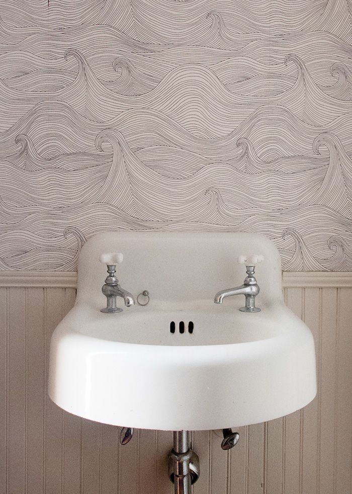 Bathroom Wallpaper   Seascape By Abigail Edwards