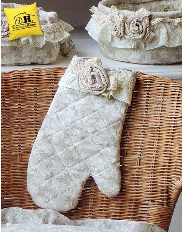Guanto da forno Angelica Home & Country Collezione Lady Rose