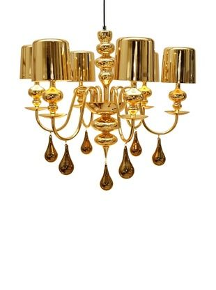 -38,800% OFF Arttex Lighting Vienne Pendant Light, Gold, Small