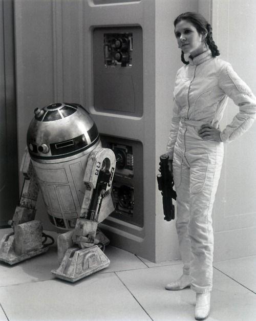 R2D2 & Princess Leia | Star Wars. Original Trilogy ... Old Star Wars Princess Leia