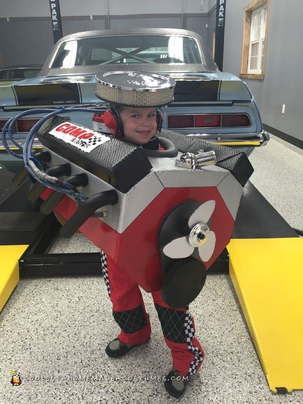 coolest small block chevy v8 engine costume - Homemade Toddler Halloween Costume