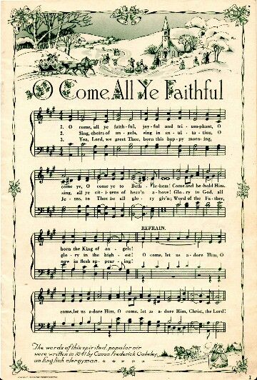 1000+ images about O Come All Ye Faithful on Pinterest | Christ, Merry christmas and Christmas ...