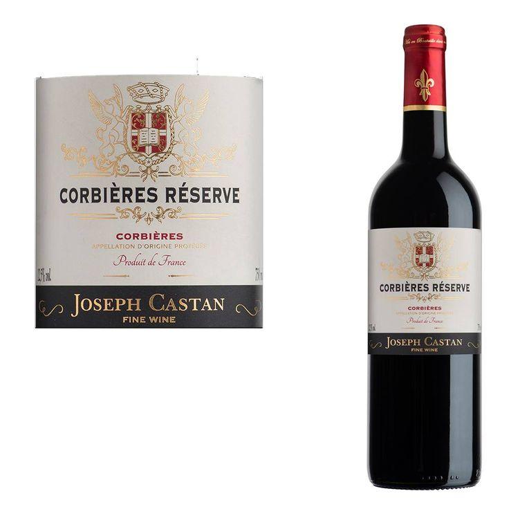 Joseph Castan Corbières Reserve  Dit is een heldere rode wijn met violetpaarse reflecties. In de neus zitten aroma's van rode bessen kersen en een vleugje drop. In de mond is dit een zachte wijn met goed gebalanceerde tannines. De afdronk is lang en zeer kruidig.  EUR 4.99  Meer informatie