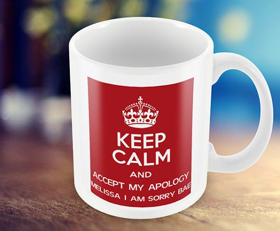 Keep Calm Mug  Personalized Mug  Custom Mug Give Any by MugandMore