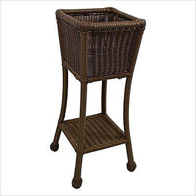Plant Stands 29514: International Caravan Pvc Resin Square Two-Tier Plant Stand Mocha New -> BUY IT NOW ONLY: $80.81 on eBay!