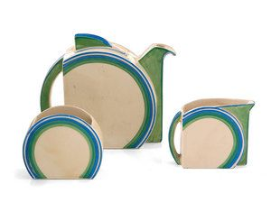 Art Deco · ceramic tea set · Clarice Cliff