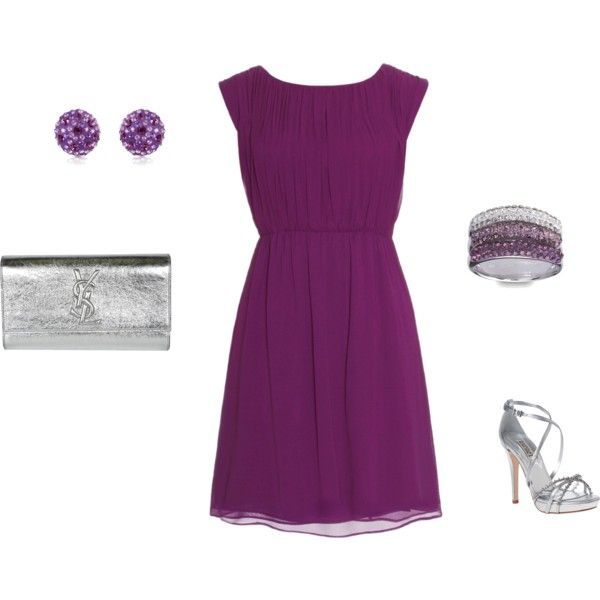 Purple Cocktail Dress Outfit