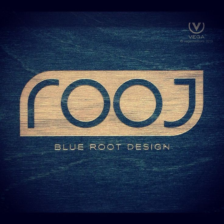 #laserengraved wood by #BlueRootDesign #logo #design by #vegacreations